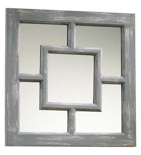 Distressed Gray Ashbury Rectangular Mirror