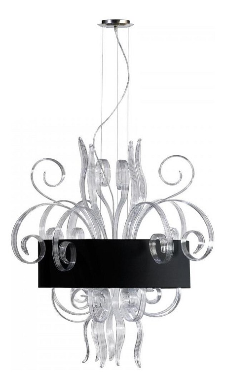 Clear Glass 8 Light Down Lighting Pendant From The Cassina Collection
