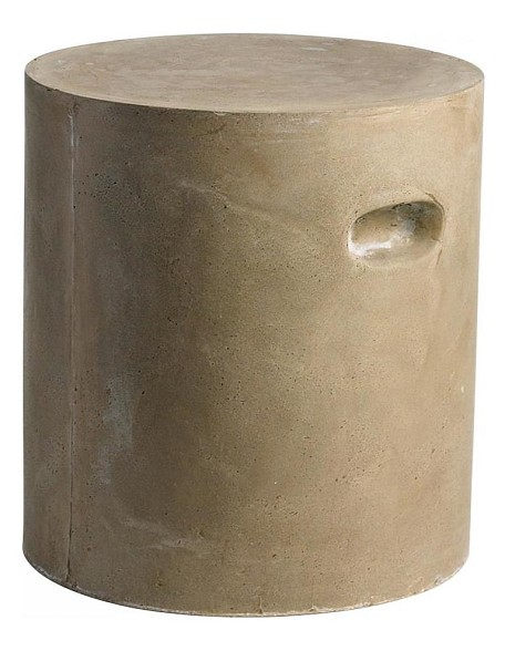 Brown 16in. Round Clay Stool