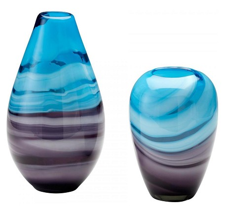 Turquoise / Purple 13.25in. Tall Callie Vase