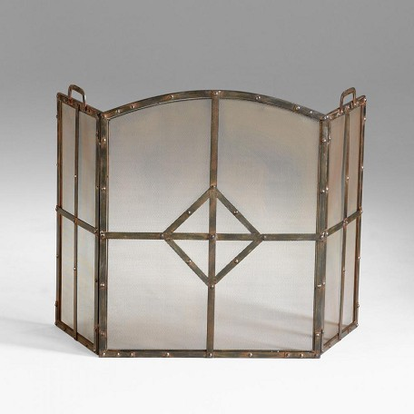 Raw Steel Lincoln Fire Screen