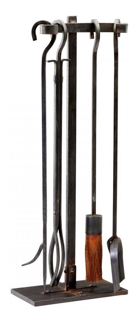 Raw Steel Lincoln Hearth Tools 5 Piece Set
