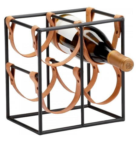 Raw Steel 9.5In. Small Wine Rack