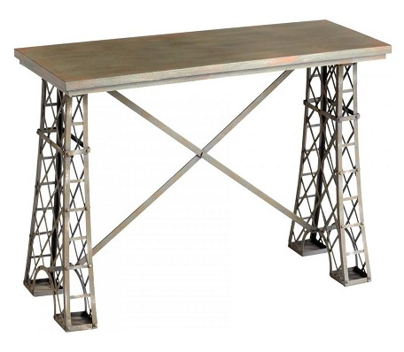 Raw Steel Vallis Console Table