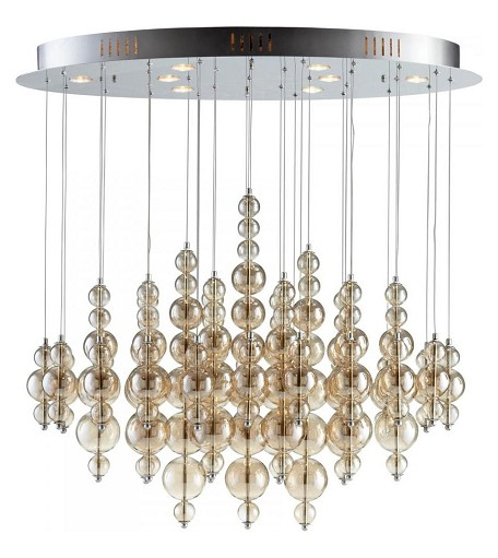 Smokey Brown Bubbles Cash 8 Light Multi Light Pendant