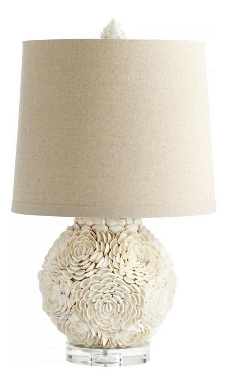 White Mum 1 Light Table Lamp