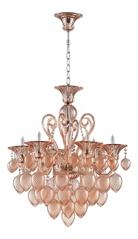 Blush Bella Vetro 8 Light Single Tier Chandelier