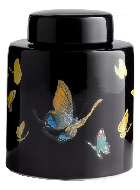 Multi-colored 7.88in. Large Painted Lady Container
