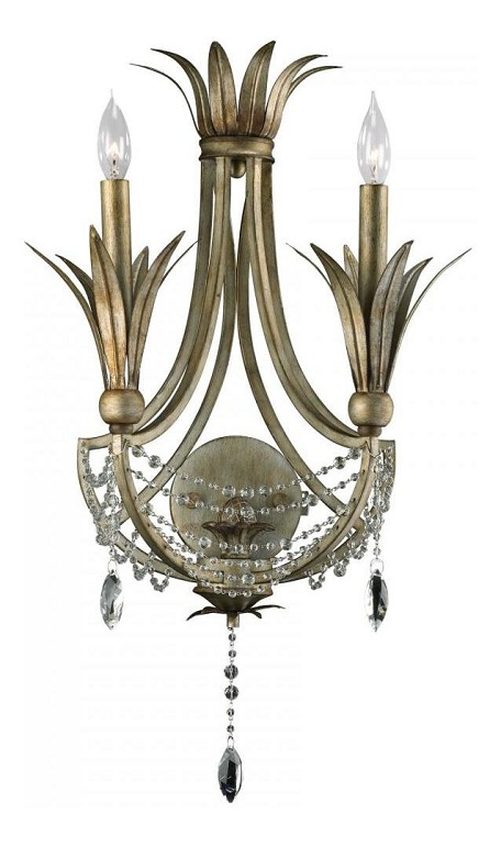 St. Regis Bronze 24in. Two Lamp Wall Sconce from the Luciana Collection