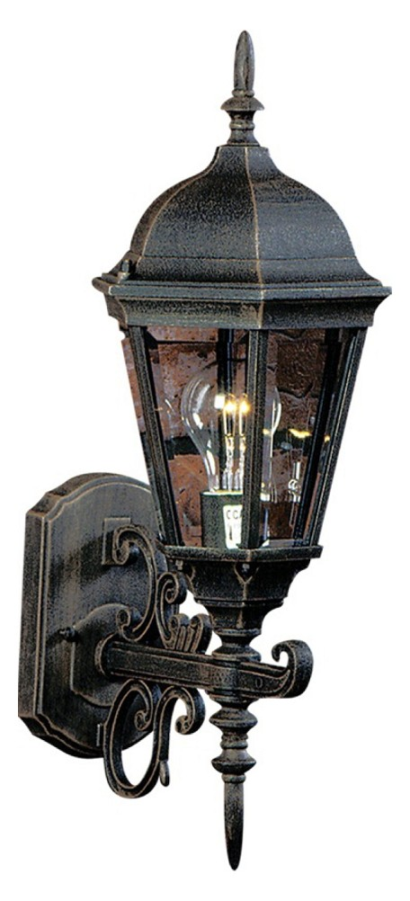 Rust Small Outdoor Hexagonal Wall Lantern From The Tudor Collection