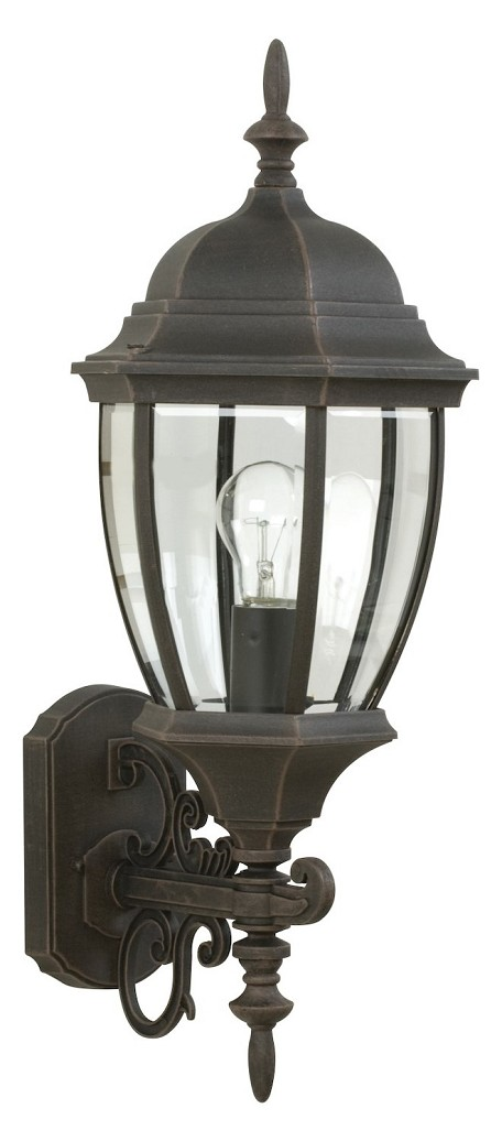 Craftmade One Light Black Wall Lantern - Z280-07