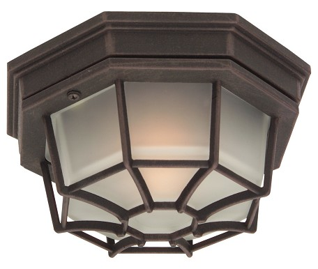 Craftmade One Light Black Outdoor Flush Mount - Z390-05