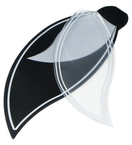 Craftmade Black And Silver Fan Blade - BBL52-BLK