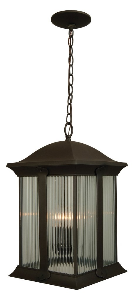 Craftmade Three Light Bronze Hanging Lantern - Z4121-92