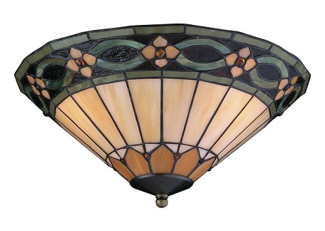 Craftmade Two Light Jeweled Tiffany Style Glass Fan Light Kit - LKE116-NRG
