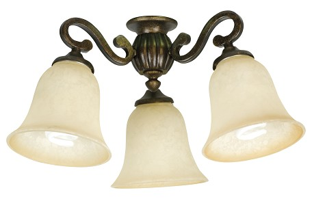 Craftmade Three Light Bronze Fan Light Kit - LK50CFL-PR