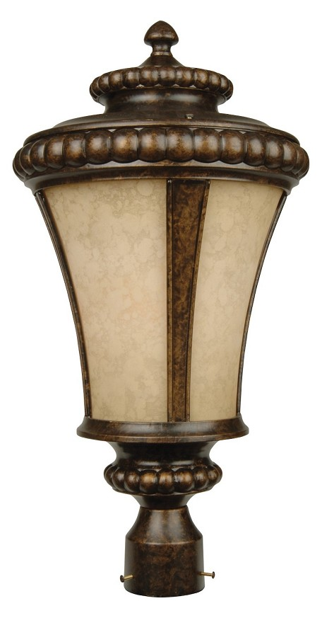 Craftmade One Light Bronze Post Light - Z1225-112