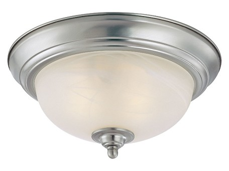 Jeremiah One Light Satin Nickel Painted Glass Bowl Flush Mount - 20011-SN