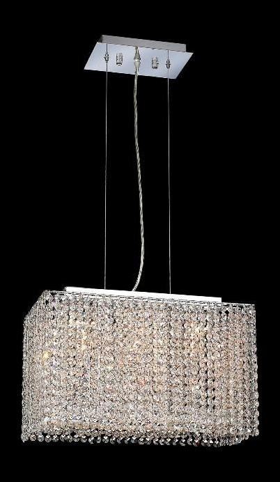 "Moda Collection 3-Light 9"" Chrome Pendant with Light Topaz Yellow Royal Cut Crystal 1291D18C-LT/RC"