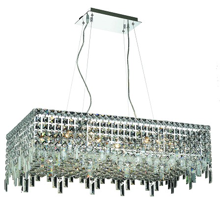 "Maxim Collection 16-Light 16"" Chrome Island Light with Clear Royal Cut Crystal 2035D32C/RC"