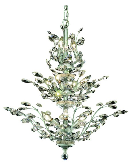 "Orchid Collection 13-Light 27"" Chrome Chandelier with Clear Royal Cut Crystal SKU* 2011D27C/RC"