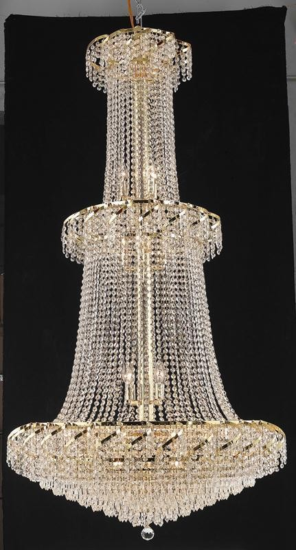 "Belenus Collection 32-Light 36"" Gold Chandelier with Clear Royal Cut Crystal ECA4G36G/RC"