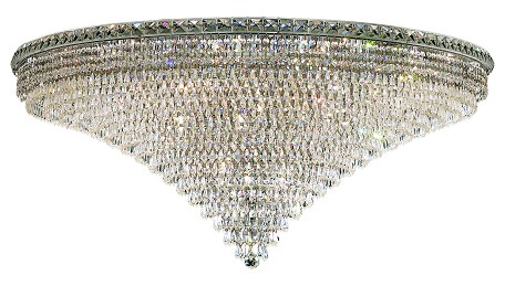 "Tranquil Collection 33-Light 48"" Chrome Flush Mount with Clear Royal Cut Crystal 2526F48C/RC"
