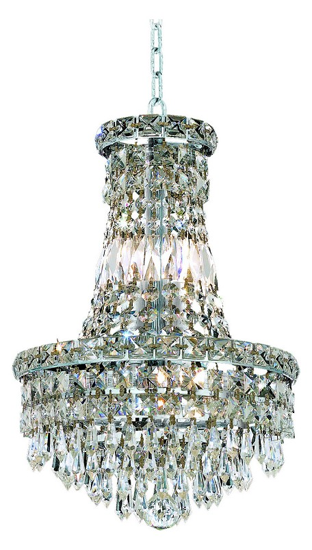 "Tranquil Collection 6-Light 12"" Chrome Chandelier with Clear Royal Cut Crystal 2526D12C/RC"