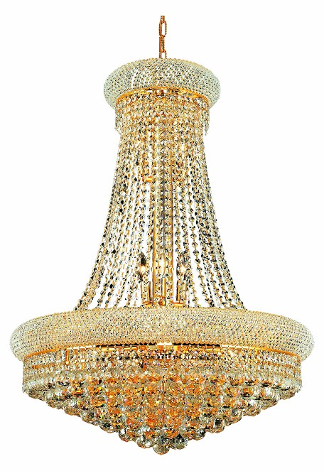 "Primo Collection 14-Light 28"" Gold Chandelier with Clear Royal Cut Crystal 1800D28G/RC"