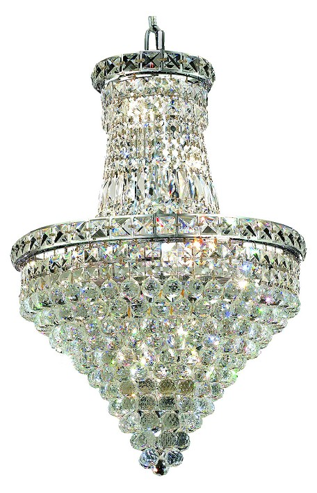 "Tranquil Collection 12-Light 18"" Chrome Chandelier with Clear Royal Cut Crystal 2527D18C/RC"