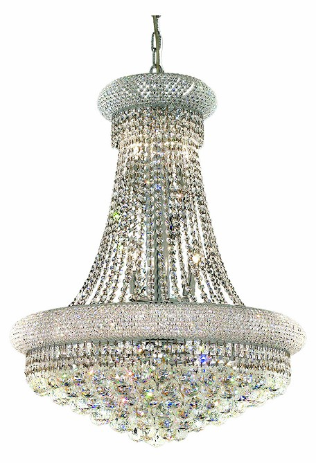 "Primo Collection 14-Light 24"" Chrome Chandelier with Clear  Swarovski Strass Crystal 1800D24C/SS"
