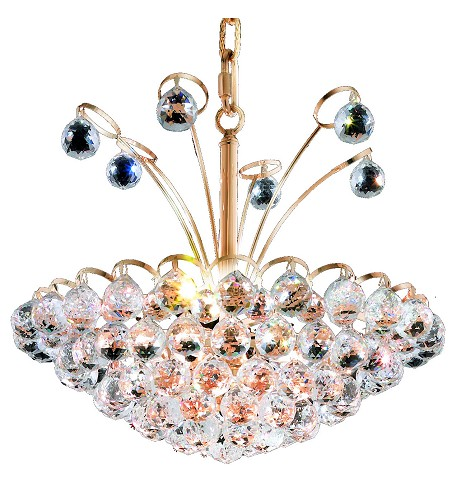 "Godiva Collection 8-Light 18"" Gold Pendant with Clear  Swarovski Strass Crystal 2001D18G/SS"