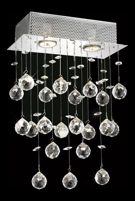 "Galaxy Collection 2-Light 12"" Chrome Wall Sconce with Clear  Swarovski Strass Crystal 2021W12C/SS(LED)"