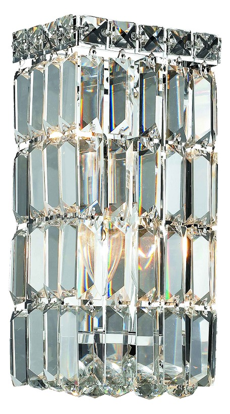 "Maxim Collection 2-Light 6"" Chrome Bathroom Vanity with Clear Swarovski Strass Crystal 2032W6C/SS"