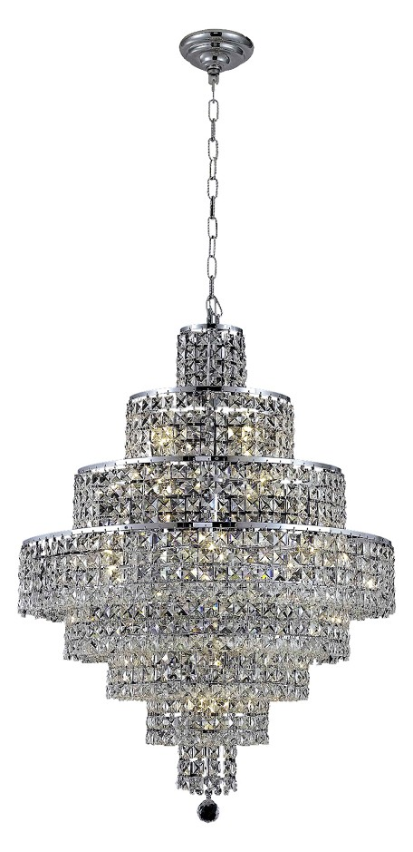 "Maxim Collection 18-Light 26"" Chrome Chandelier with Clear  Swarovski Strass Crystal 2039D26C/SS"