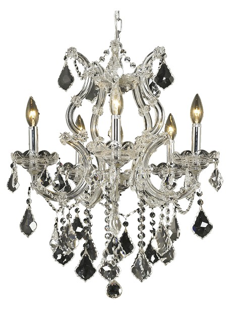 Maria Theresa Collection 6 Light 20 Chrome Chandelier With Clear Elegant Cut Crystal 2800d20c Ec