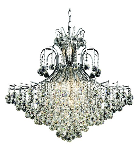 "Toureg Collection 15-Light 31"" Chrome Chandelier with Clear  Swarovski Strass Crystal 8005G31C/SS"