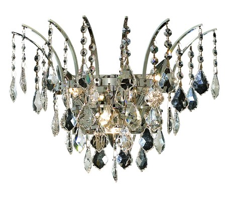 "Victoria Collection 3-Light 16"" Chrome Wall Sconce with Clear  Swarovski Strass Crystal 8033W16C/SS"