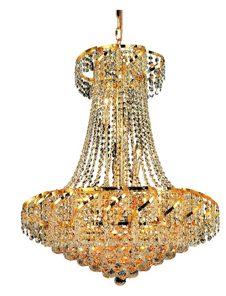"Belenus Collection 15-Light 26"" Gold Chandelier with Clear Swarovski Spectra Crystal ECA1D26G/SA"