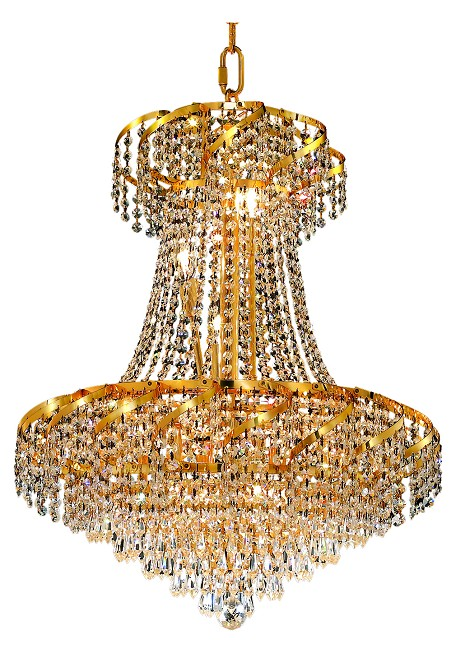 "Belenus Collection 11-Light 22"" Gold Chandelier with Clear Swarovski Spectra Crystal ECA4D22G/SA"