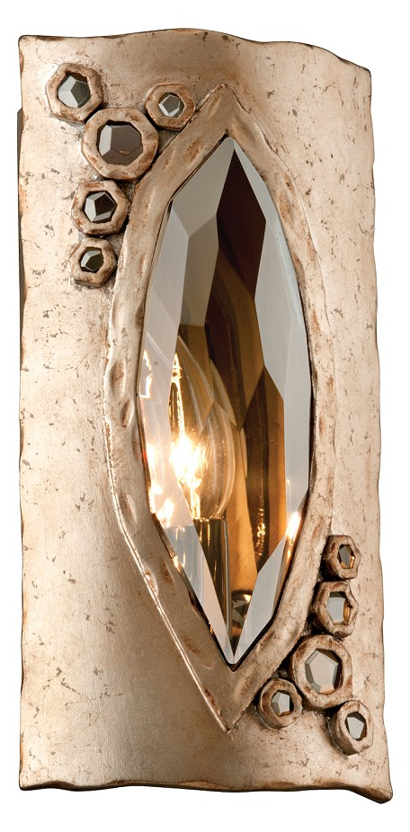 Topaz Leaf After Party 1 Light ADA Hand Crafted Iron Wall Sconce