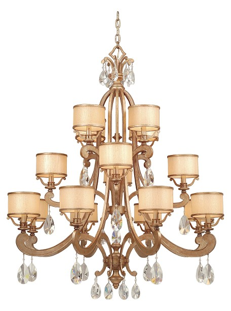 Antique Roman Silver 16 Light 3 Tier Chandelier from the Roma Collection