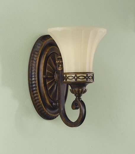 "Drawing Room Collection 1-Light 6"" Walnut Wall Sconce VS11201-WAL"
