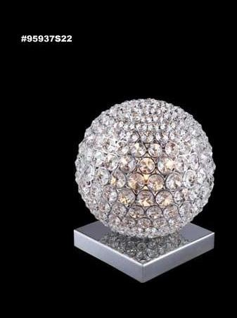 "Sun Sphere Europa Collection LED 16"" Silver Accent Lamp with Swarovski® SPECTRA® Crystal 95937S11LED"