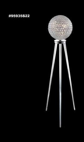 "Sun Sphere Europa Collection 8-Light 62"" Silver Floor Lamp with IMPERIAL™ Crystal 95935S22"