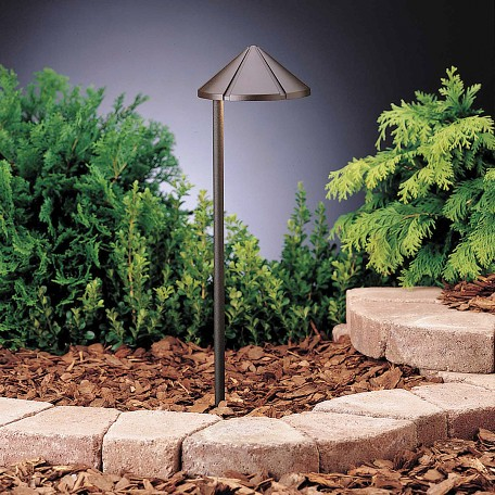Kichler Landscape One Light Textured Architectural Bronze Path Light - 15315AZT6