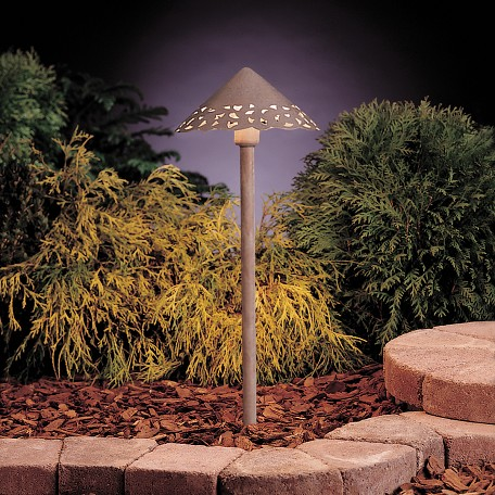 Kichler Landscape One Light Olde Brick Path Light - 15443OB12