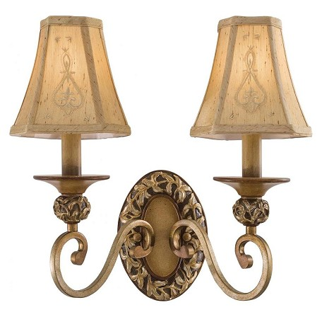 Florence Patina 2 Light Candle-Style Wall Sconce From The Salon Grand Collection