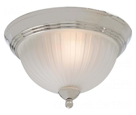 Polished Nickel 2 Light Flush Mount Ceiling Fixture From The 1730 Collection