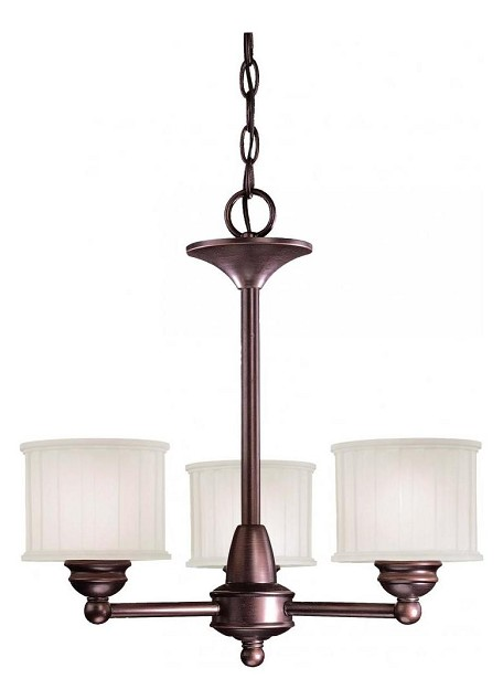 Lathan Bronze 3 Light 1 Tier Mini Chandelier From The 1730 Series Collection
